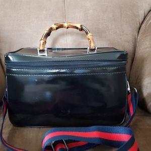 Gucci Bamboo Handle Train Case Handbag